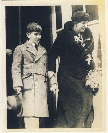 Queen Marie of Romania with her grandson, Peter of Yugoslavia.
