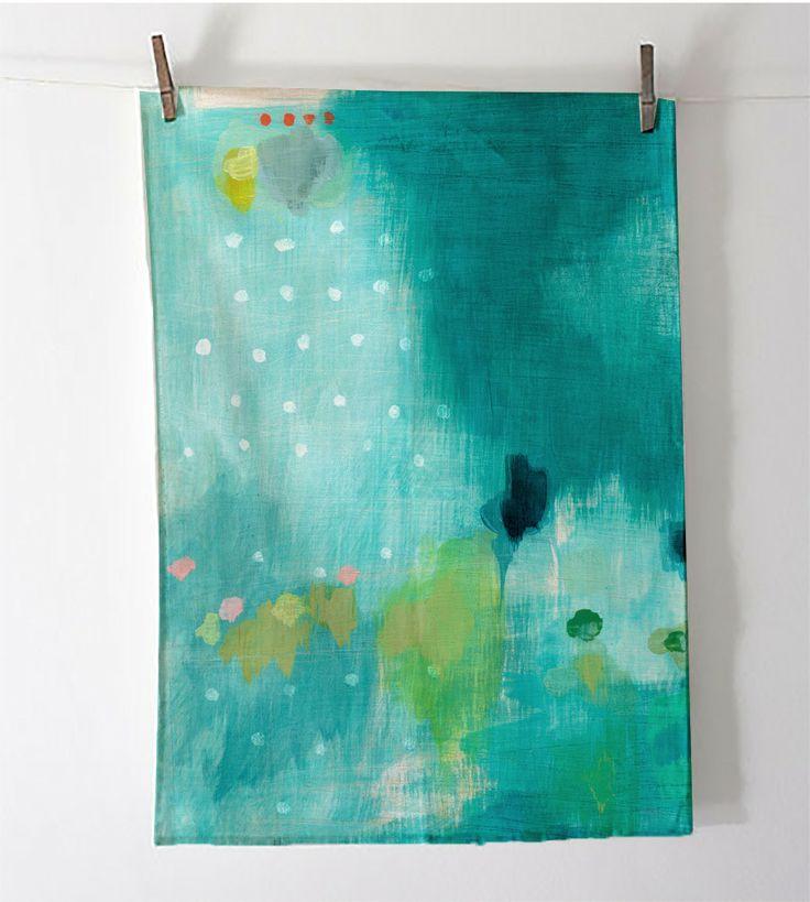 "Belinda Marshall ""Just One Thing"" Art Tea Towel $40   Frankie and Swiss"