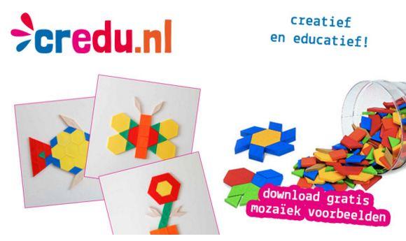 Download gratis mozaiekvoorbeelden - http://www.credu.nl/download-gratis-voorbeelden-mozaiek/