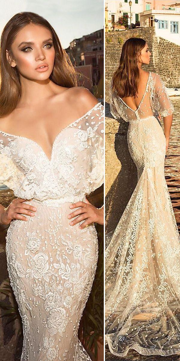 Romantic Off The Shoulder Wedding Dresses ❤ See more: http://www.weddingforward.com/off-the-shoulder-wedding-dresses/ #weddings