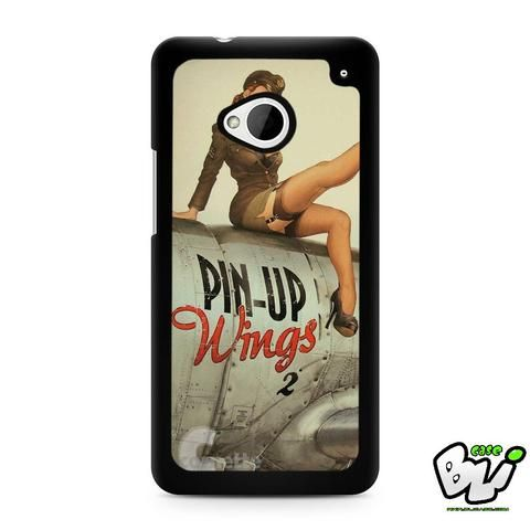 World War 2 Bomber Pin Up HTC G21,HTC ONE X,HTC ONE S,HTC  M7, M8, M8 Mini, M9, M9 Plus,HTC Desire Case