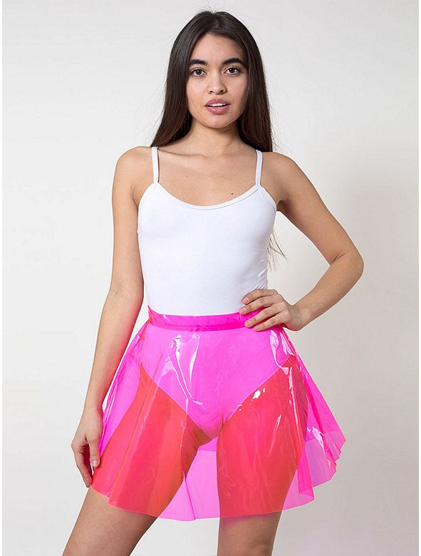 Um yeah, that's perfection. Clear PVC Circle Skirt
