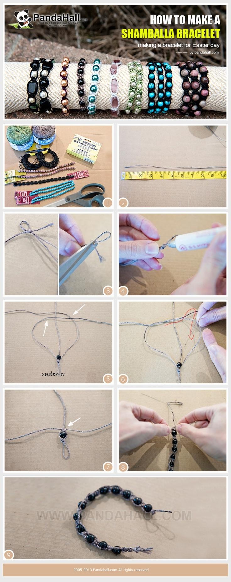 how to make a shamballa browband