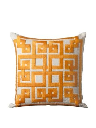 63% OFF Surya Geometric Throw Pillow (Taupe/Burnt Orange)