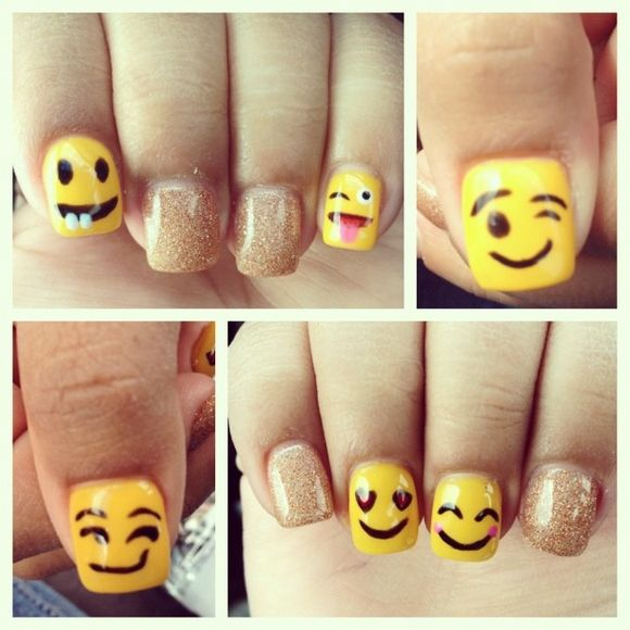 Emoji Nail Art And Some New Kit From Moyou: 17 Best Ideas About Emoji Nails On Pinterest