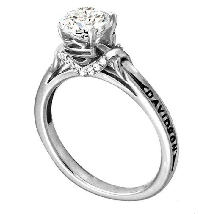 harley davidson ring - Biker Wedding Rings