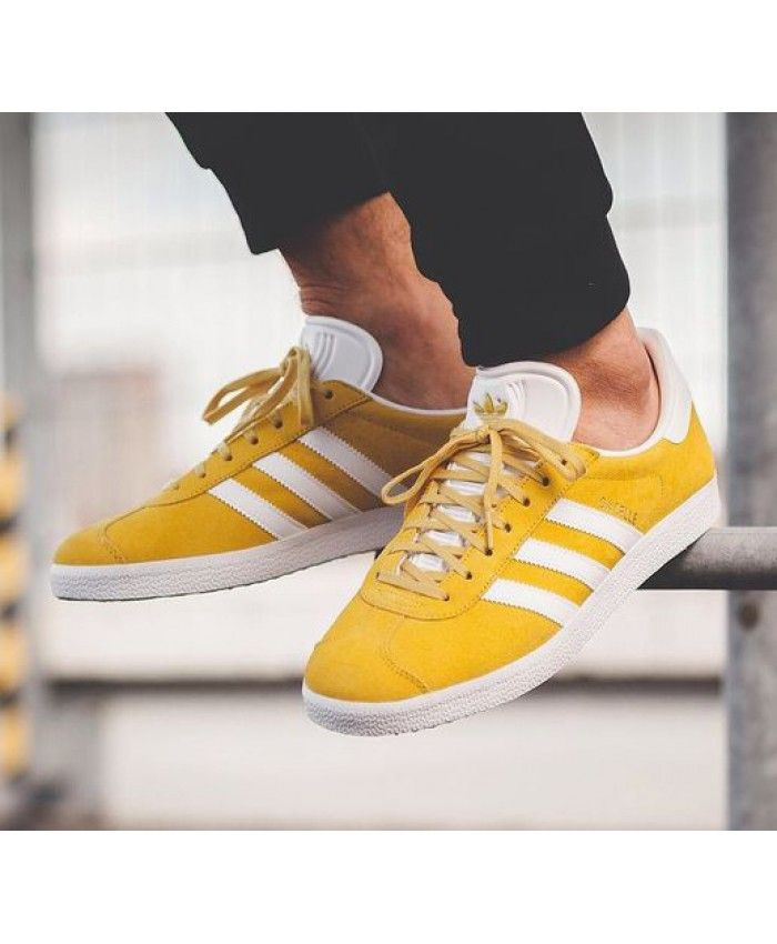 f41b1962c2e Gazelle Mens Tactile Yellow White Trainers | Adidas Gazelle | Adidas ...