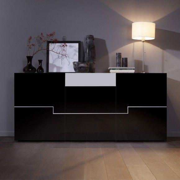 Sideboard weiß schwarz hochglanz  Die besten 25+ Sideboard schwarz weiß Ideen auf Pinterest ...