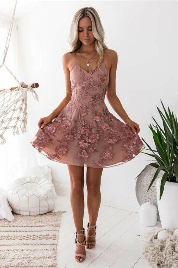 4a6a1a55b7f simple short prom party dresses with appliques