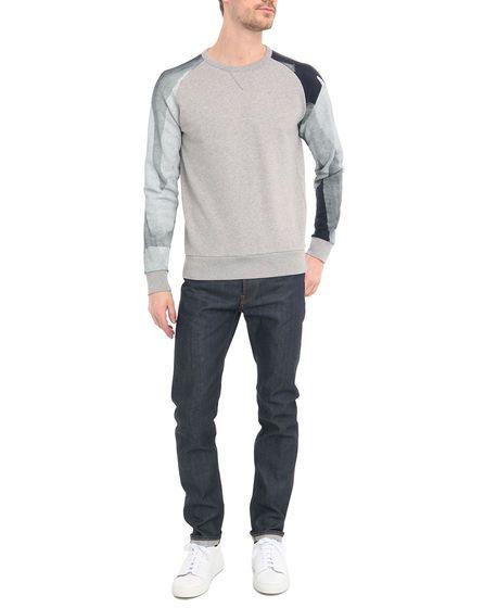 Sweater Tinte Ärmelmuster Grau meliert COMMUNE DE PARIS