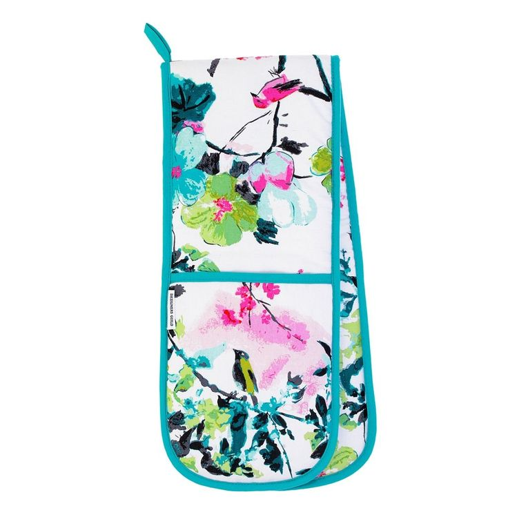 Chinoiserie Peony Double Oven Glove | Designers Guild