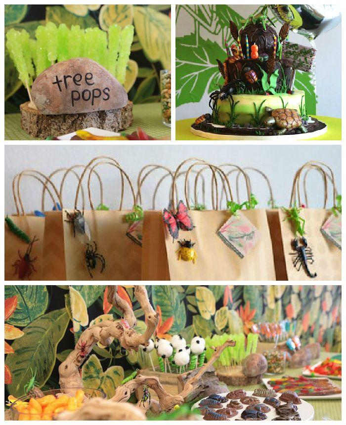 Bug + Insect Birthday Party via Kara's Party Ideas | Cake, decor, printables, games, supplies, and more! KarasPartyIdeas.com (4)