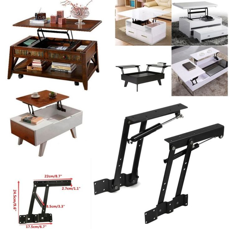 Lift Top Coffee Table Mechanism DIY Hardware Lift Up Furniture Hinge Spring  US