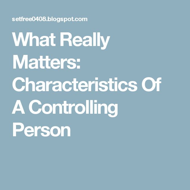 What Really Matters: Characteristics Of A Controlling Person