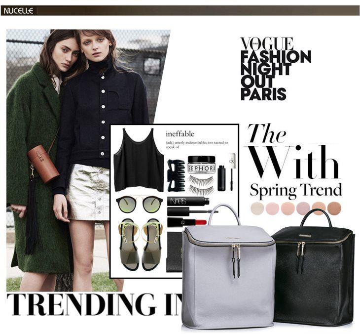 Pojemny damski plecak w nowoczesnym stylu. Czarny, szary. JakaTorebka