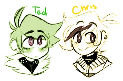 "taberdoodle:  ""i also drew @z-t00n cuties from their comic series knt which i've been following for years now quq  """