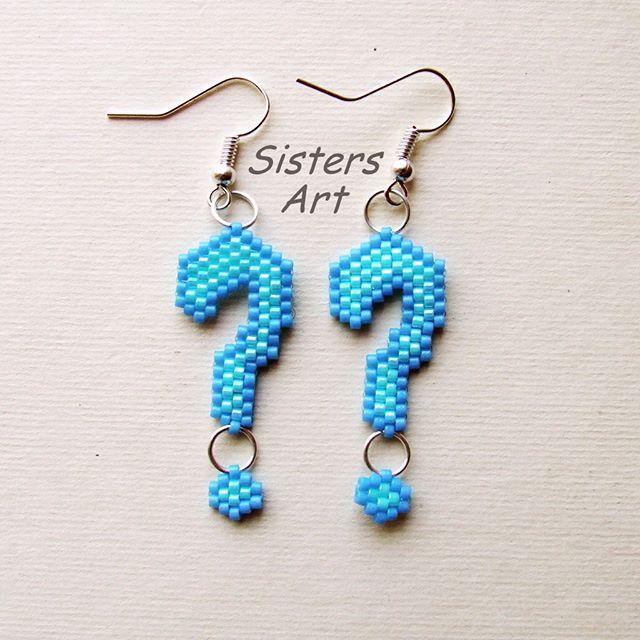 """Orecchini """"Punto Interrogativo"""" realizzati con perline delica utilizzando la tecnica Brick Stitch by Misia Sisters Art  #orecchini #puntointerrogativo #puntodidomanda #punto #domanda #perline #perlinedelica #fattoamano #perlesmiyuki #earrings #questionmark #point #demand #what #beads #peyotestitch #miyukidelica #miyukibeads #delicabeads #peyote #brickstitch #miyuki #handmade #madeinitaly #misshobby #sistersart_mm  In vendita su: http://www.misshobby.com/it/negozi/sisters-art"""