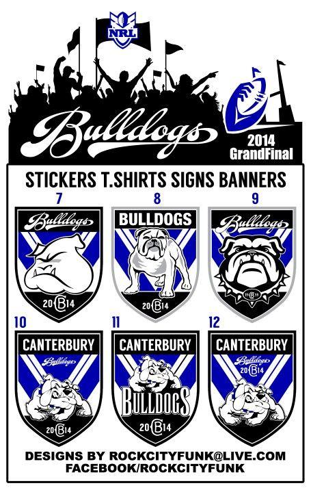 Canterbury bulldogs logo stickers