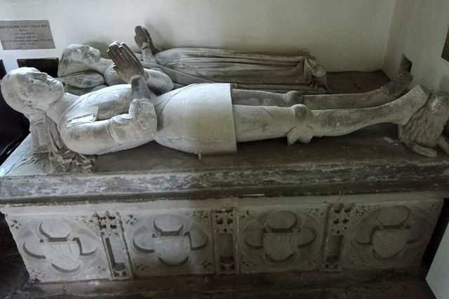 Chew Magna, Somerset | Sir John St Loe (d. 1447), with (perhaps) second wife Agnes