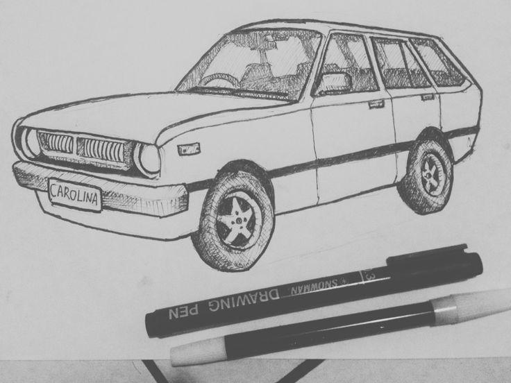 Oldies Corolla wagon *drawing pen dan spidol