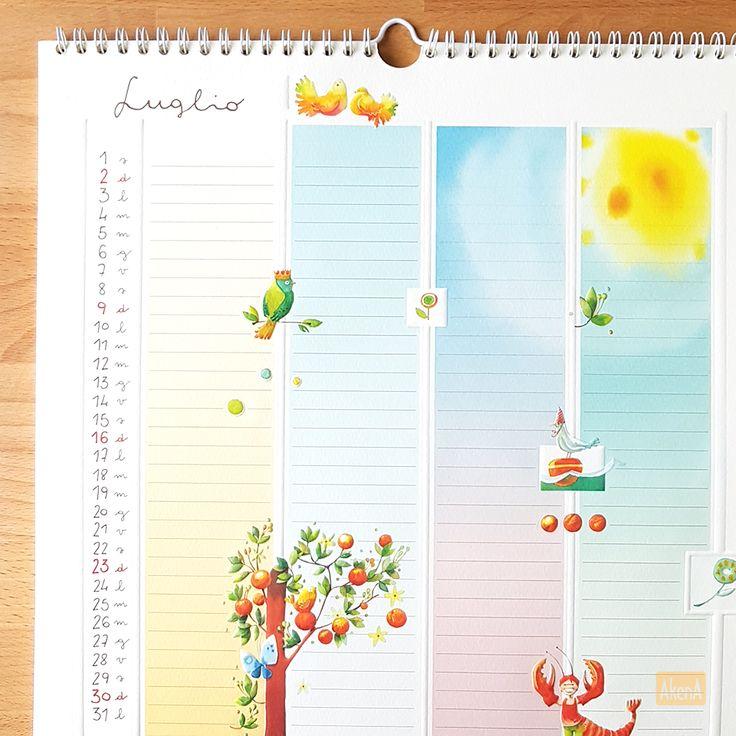 Il mese di Luglio sul calendario famiglia Goccioline 2017