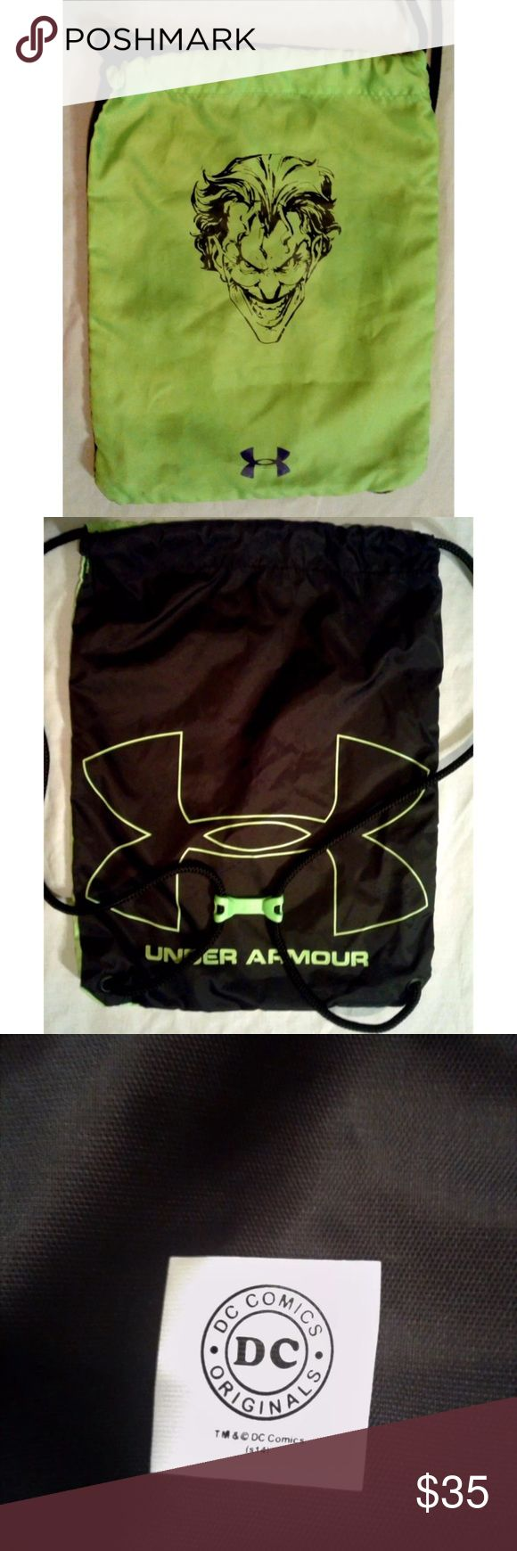 Under Armour Alter Ego Joker Bag For Sale Is An Under Armour Alter Ego Joker Drawstring Bag. This Bag Is In Great Overall Condition With Normal Signs Of Use. No Tears Or Holes.  Gym Bag  If You Have Any Additional Questions, Please Don't Hesitate To Ask. ***Orders placed before 2:00pm (ET) will be shipped the same day Monday-Friday Under Armour Bags