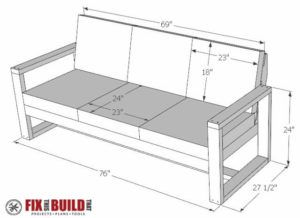 DIY Modern Outdoor Sofa Plans