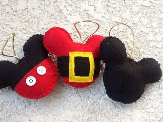 Adorno de fieltro Mickey mouse juego de feliz por BellisimaSofia
