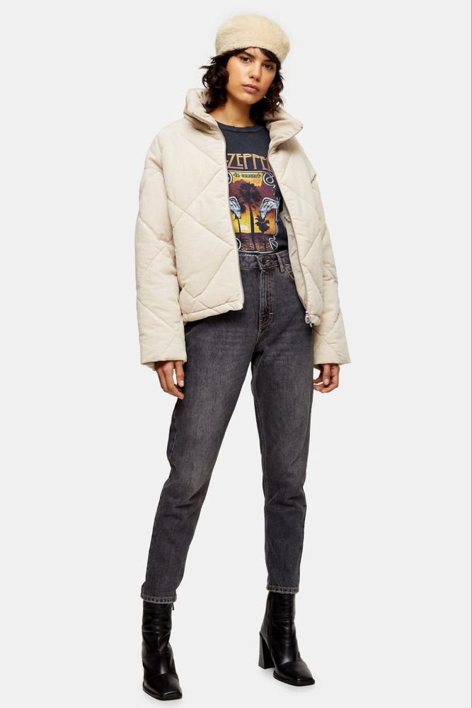 Ecru Corduroy Puffer Jacket (With images) | Puffer jackets ...