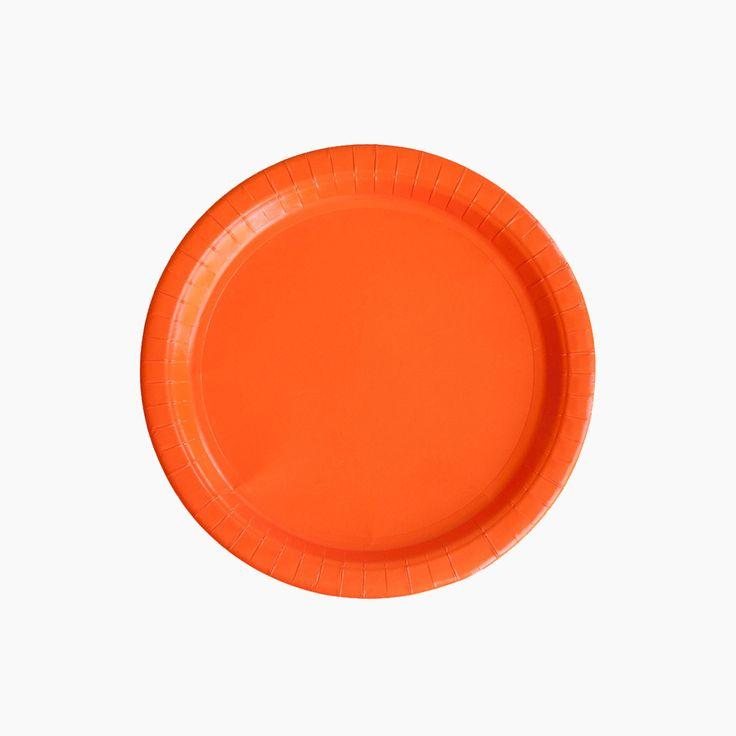 orange paper plates halloween party