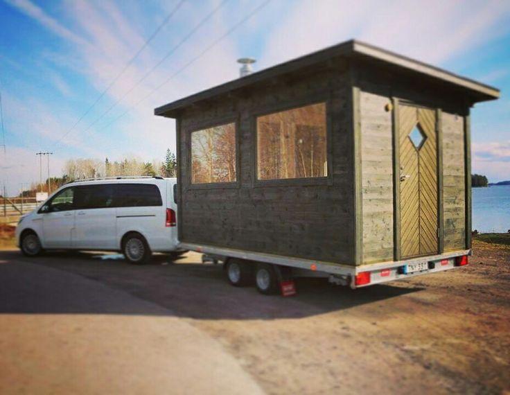 Sauna trailer,  mobile sauna, sauna on wheels, bastutrailer, bastuvagn.