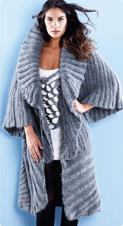 683 best KNIT ♀ - coat, cape images on Pinterest | Knit crochet ...
