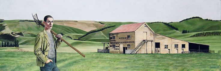 Southland Farmer Rex Turnbull © 2007 40 x 120cm Acrylic on canvas