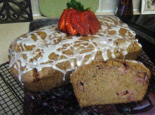 My friend Kimi's Fresh Strawberry Bread with Key Lime Glaze