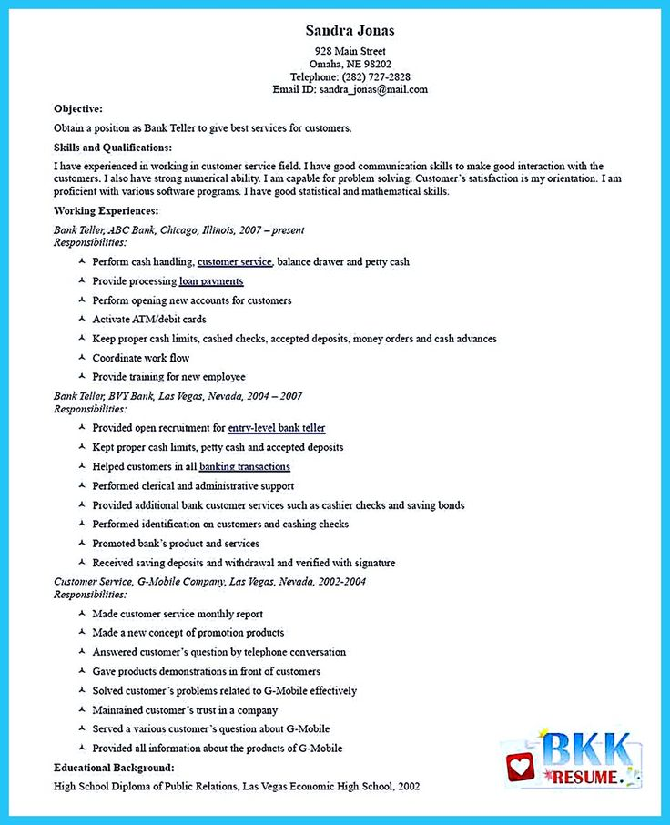 Most of people who are about to apply for job as a bank teller, they consider to take learn from a bank teller resume sample. Thereby, you can get the... sample resume for bank teller entry level and bank teller resume templates free Check more at http://www.resume88.com/learning-to-write-from-a-concise-bank-teller-resume-sample/