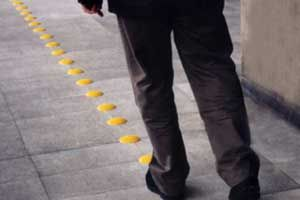 Tacdots in use at the Charles De Gaulle Airport in Paris are enabling visually impaired visitors to navigate easily