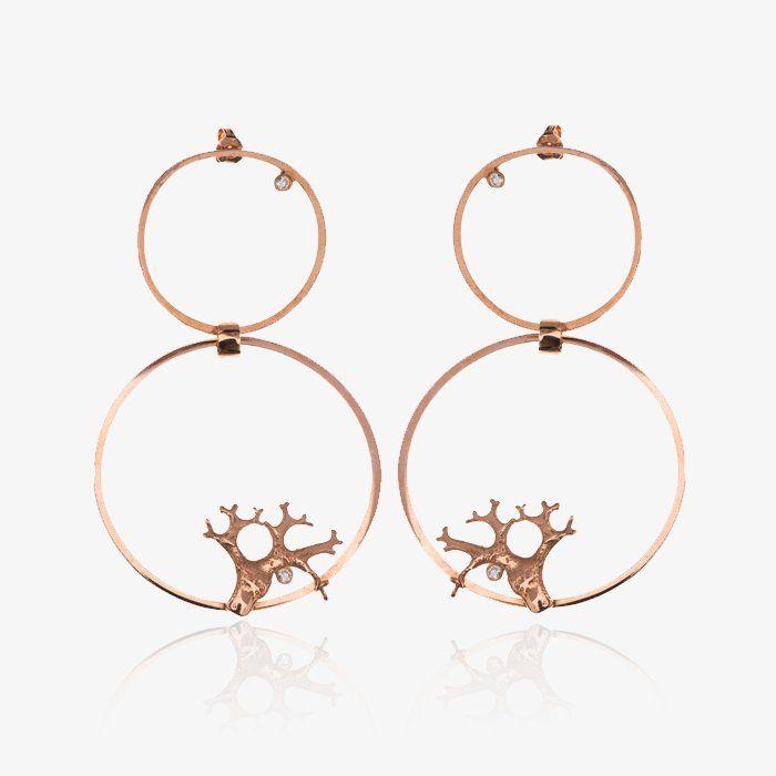 Lichen Shape Earrings