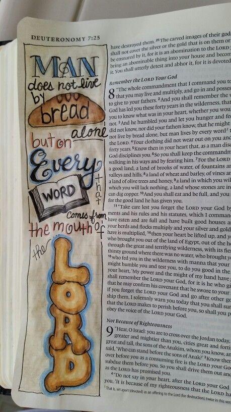 Deuteronomy 8 From Dianne Gottron's Bible.