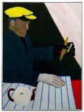 Roger Raveel - Belgian painter. Very nice and colorful artwork. This is the 'Man in yellow cap'.