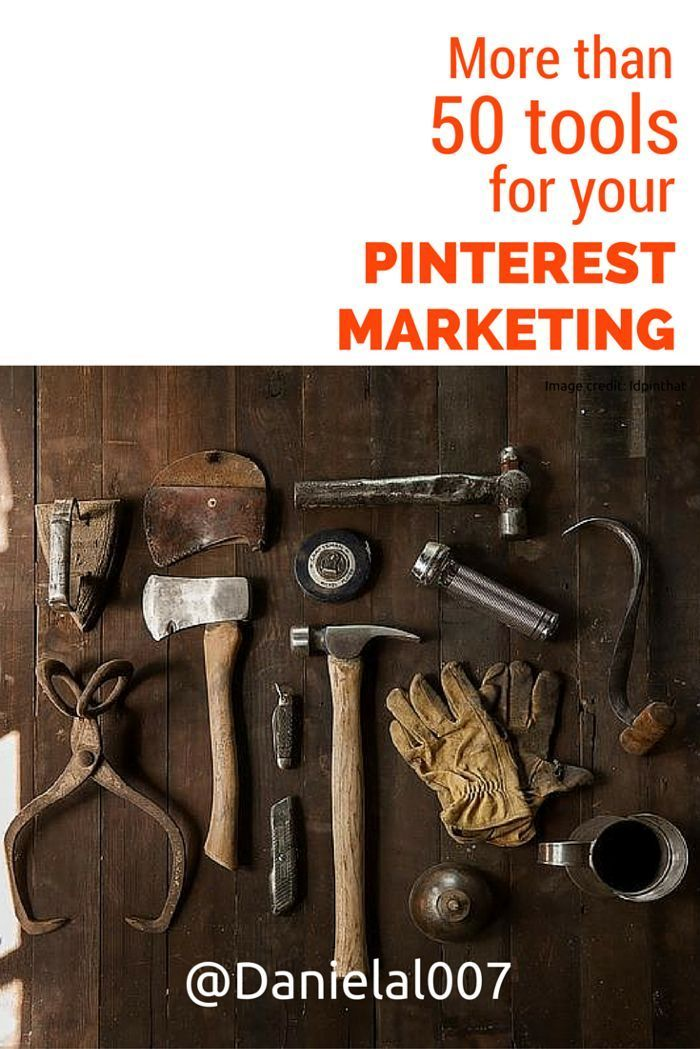 A list of more than 50 tools that can help you if you are serious about growing your business with #Pinterest marketing