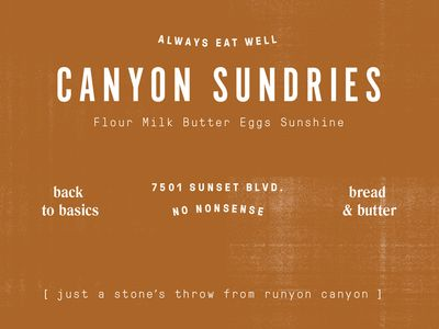 Canyon Sundries