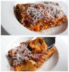Een heerlijke vegetarische lasagna met pompoen,spinazie, tomaat en mozzarella. Geloof me, je mist het vlees niet. Deze zachte licht zoete lasagna is gebaseerd op een recept van Jamie Oliver