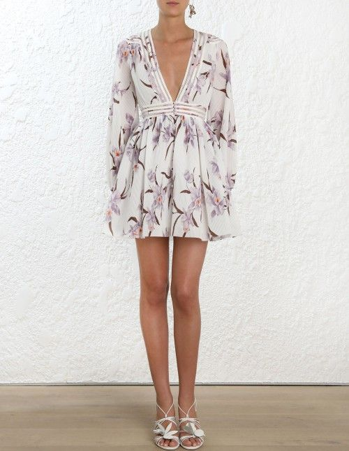 39bb316f6f9b2 Zimmermann Corsage Plisse Mini Dress. Model Image. Fits true to size take  your normal size Our model is 5 9 5 178 cm bust size 32C 10C and is wearing  a size ...