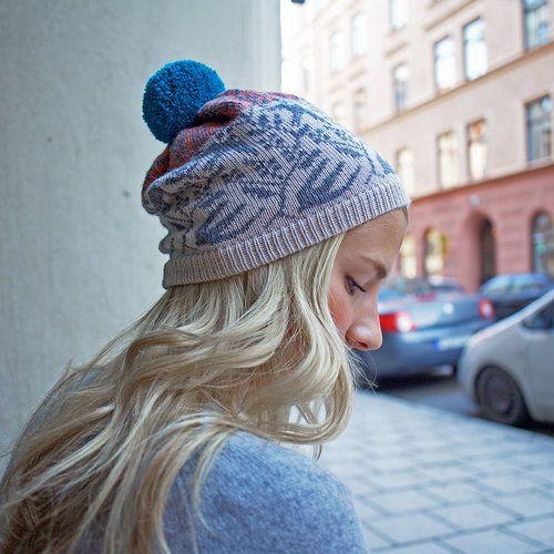 Knitted beanie in 100 % alpaca by Kutova KiKa Knitwear