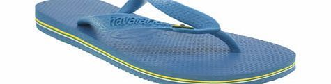 havaianas Blue Brasil Sandals An ever popular silhouette from the iconic flip-flop brand, Havaianas, arrives in a bright blue update. The classic sandal features Brazilian flag detailing on the thong strap, with yellow and white s http://www.comparestoreprices.co.uk/womens-shoes/havaianas-blue-brasil-sandals.asp