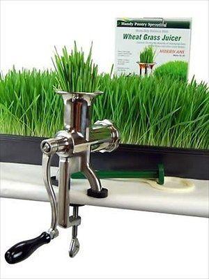 HURRICANE MANUAL WHEATGRASS JUICER - JUICE WHEAT GRASS, BARLEYGRASS LEAFY GREENS
