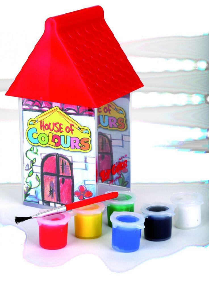 Setul tempera Toy Color House of Colours din plastic, dispune de 6 culori. Apucă-te să pictezi! http://www.rechizitelemele.ro/coloriaj-si-activitati-creative/toy-color?p=3