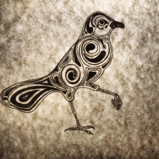http://yanathedreamer.blogspot.ru/2014/09/bird.html #art #bird #tattoo #illustration #steampunk #lovely #pen #black