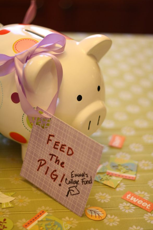 For allowance say to the kids they have to feed their pig a certain amount of their choosing, but it has to be something. :D