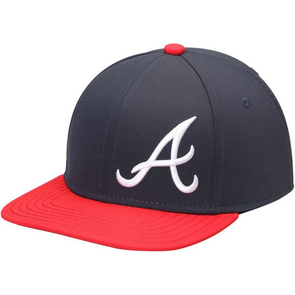 5f6f0ee8645 Youth Atlanta Braves Under Armour Navy Big Logo Snapback Adjustable ...
